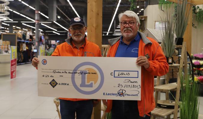 Un don de 4225€ par Le Centre E.LeclercPleuven