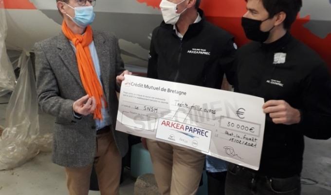 Arkéa Paprec offre 30000€ aux sauveteurs enmer
